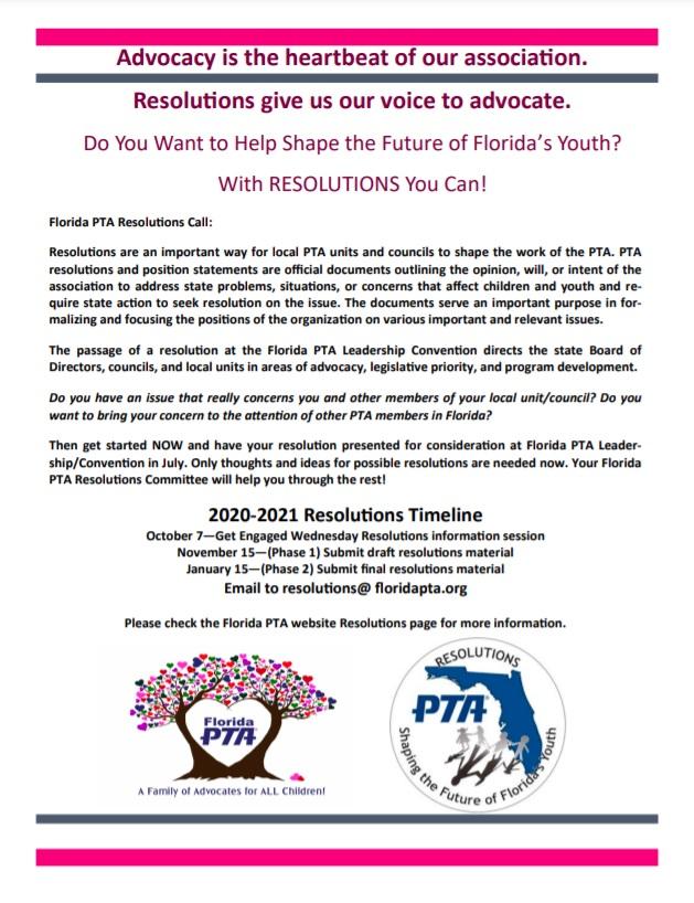 Resolutions Florida Pta